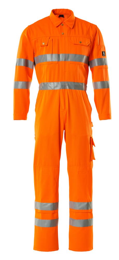 00419-860-14 Combinaison avec poches genouillères - Hi-vis orange