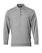 00785-280-08 Polo-Sweatshirt - Grau-meliert