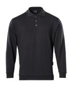 00785-280-09 Polo-Sweatshirt - Schwarz