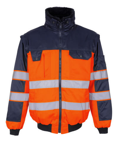 00920-660-141 Veste pilote - Hi-vis orange/Marine