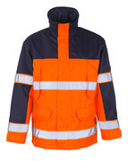00930-880-141 Parka - Hi-vis orange/Marine