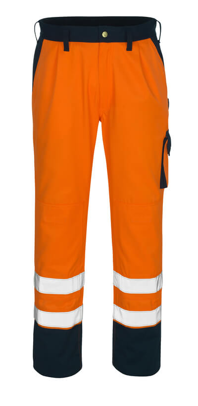 00979-860-141 Arbeitshose - hi-vis Orange/Marine