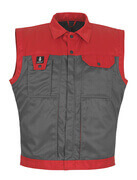 00989-620-88802 Gilet grand froid - Anthracite/Rouge