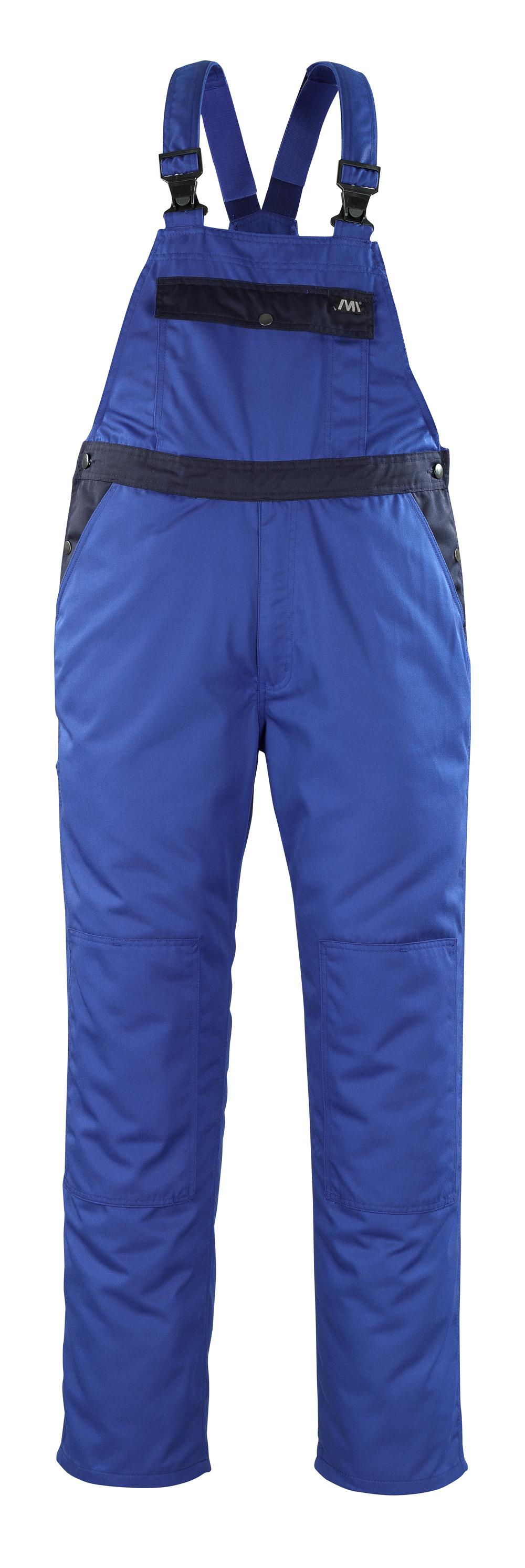 04569-800-1101 Salopette avec poches genouillères - Bleu roi/Marine