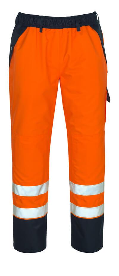 07090-880-141 Überziehhose mit Knietaschen - hi-vis Orange/Marine