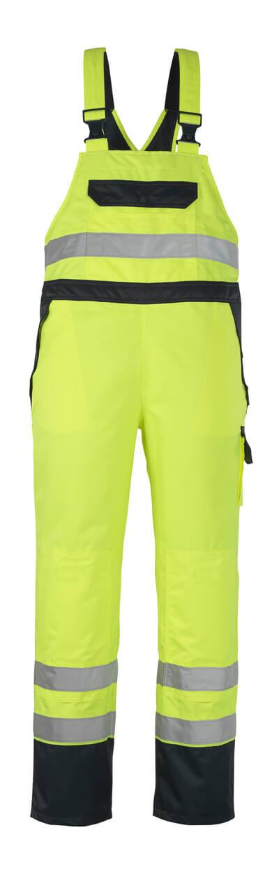 07092-880-171 Sursalopette avec poches genouillères - Hi-vis jaune/Marine