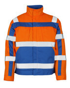 07109-860-1411 Jacke - hi-vis Orange/Kornblau