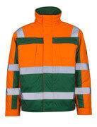 07123-126-1403 Pilotjacke - hi-vis Orange/Grün