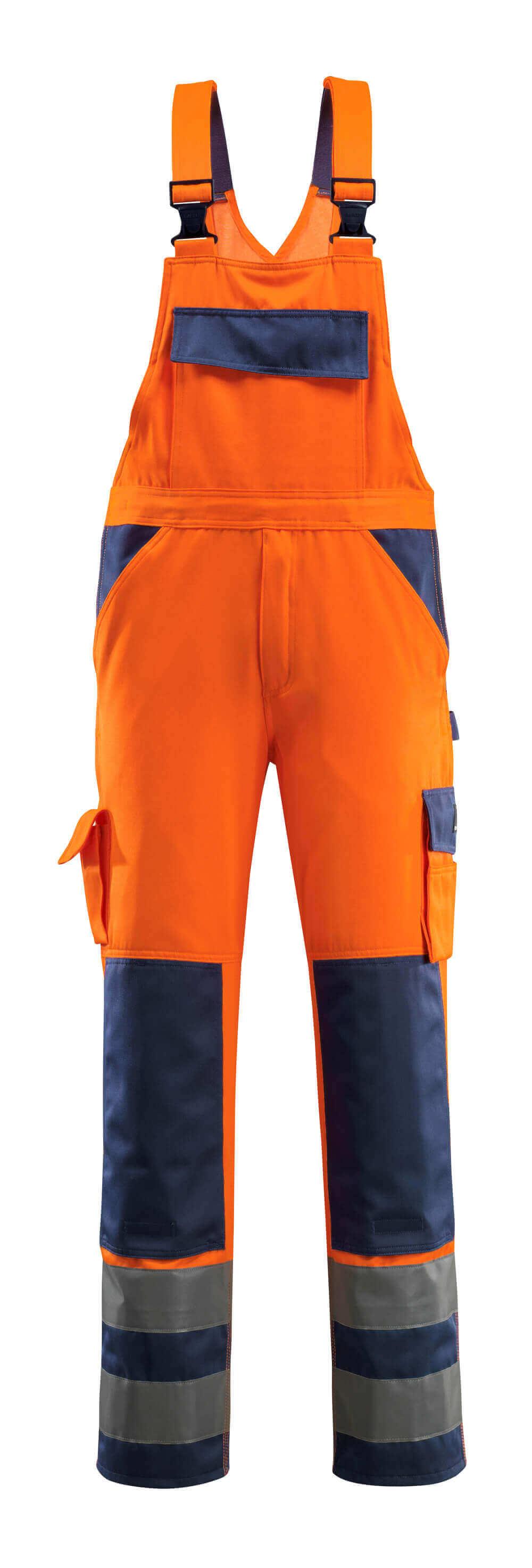 07169-860-141 Arbeitslatzhose - hi-vis Orange/Marine