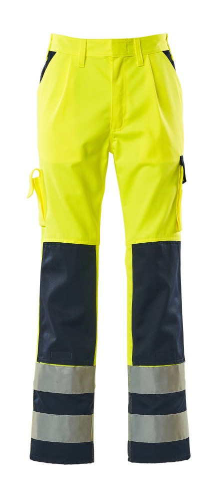 07179-470-171 Pantalon avec poches genouillères - Hi-vis jaune/Marine