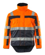 07223-880-141 Winterjacke - hi-vis Orange/Marine