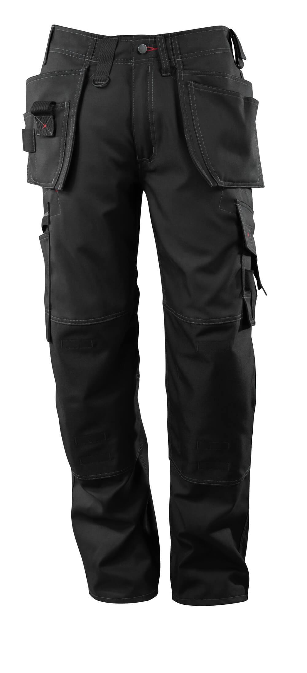 07379-154-09 Pantalon avec poches flottantes - Noir