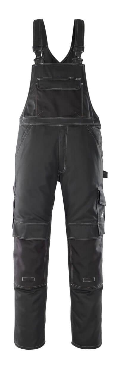 08269-010-09 Salopette avec poches genouillères - Noir