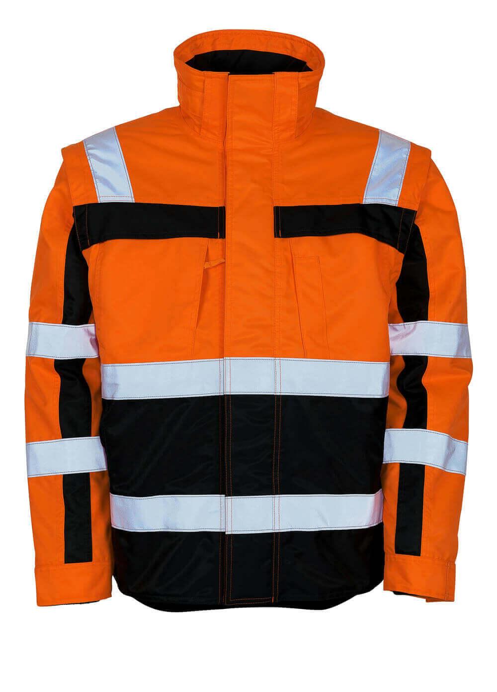 09335-880-141 Veste grand froid - Hi-vis orange/Marine