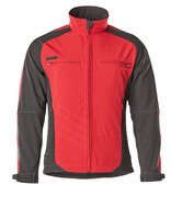 12002-149-0209 Soft Shell Jacke - Rot/Schwarz