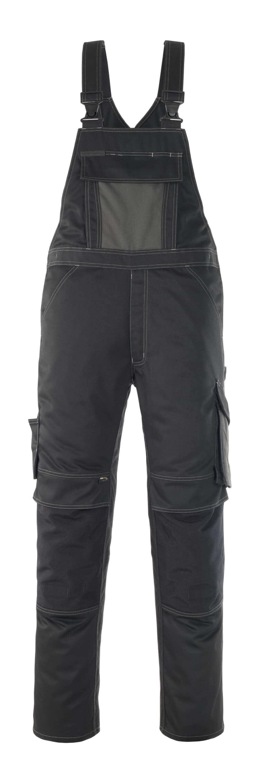 12069-203-0918 Salopette avec poches genouillères - Noir/Anthracite foncé