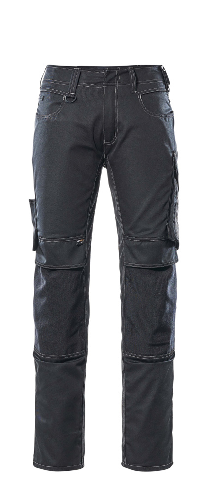 12679-442-0918 Pantalon avec poches genouillères - Noir/Anthracite foncé