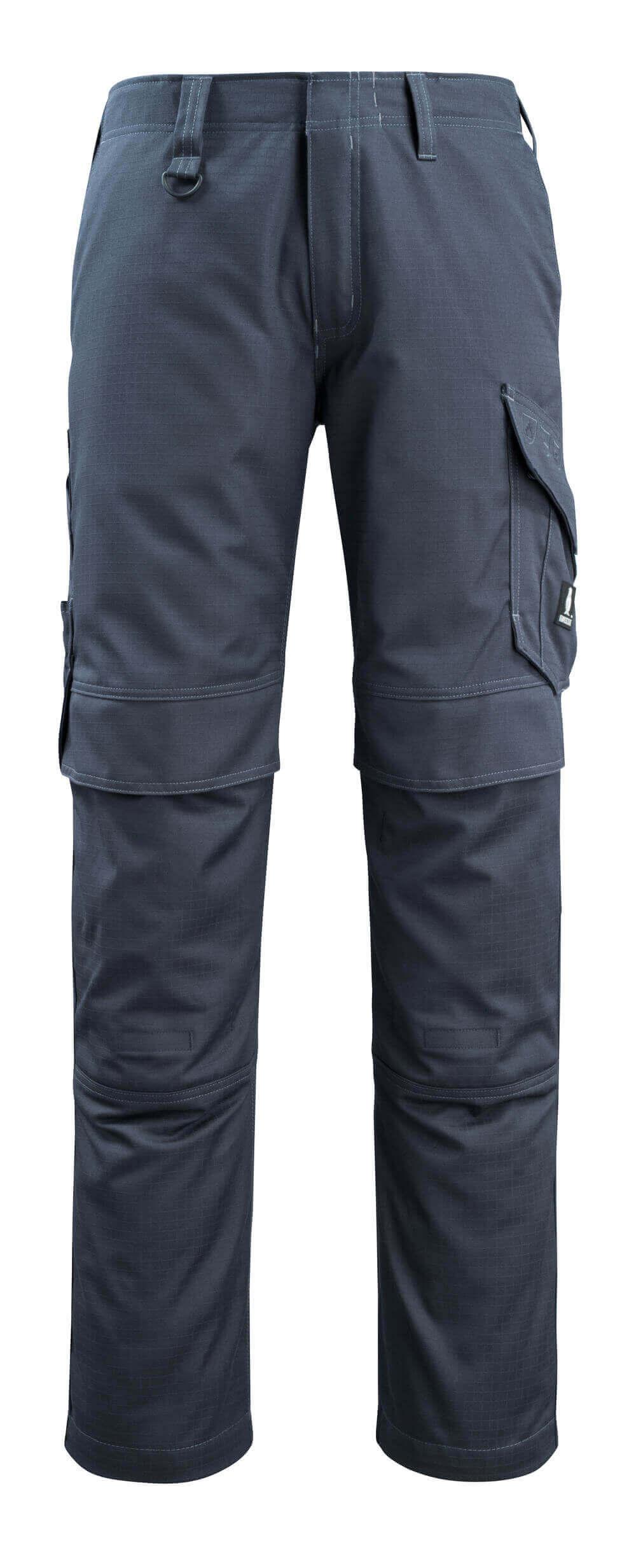13679-216-010 Pantalon avec poches genouillères - Marine foncé