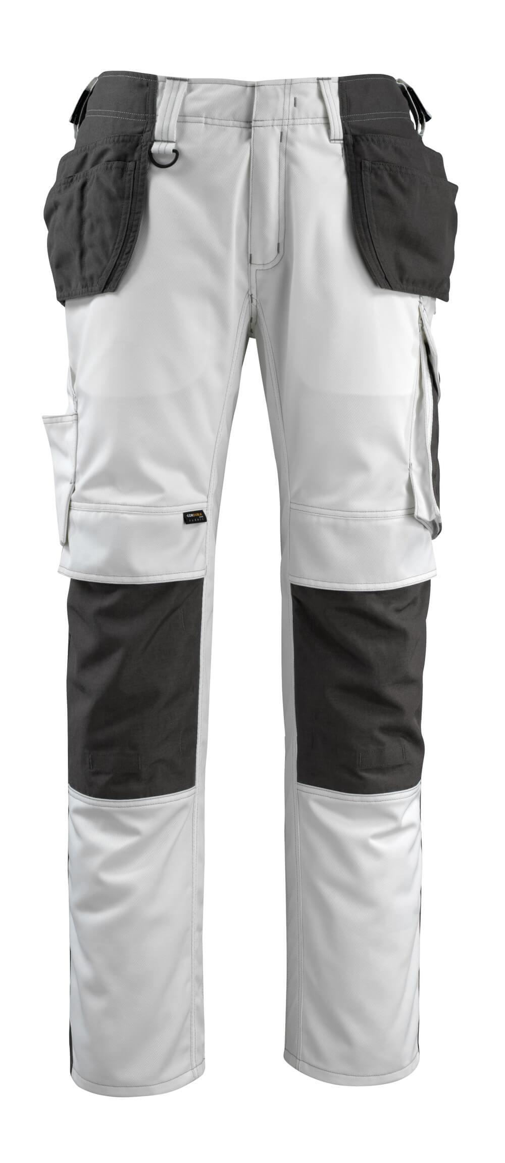 14031-203-0618 Pantalon avec poches flottantes - Blanc/Anthracite foncé