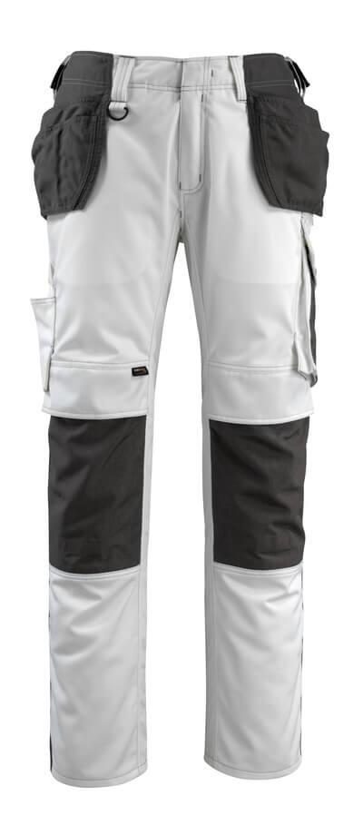 14031-203-0618 Handwerkerhose - Weiß/Dunkelanthrazit