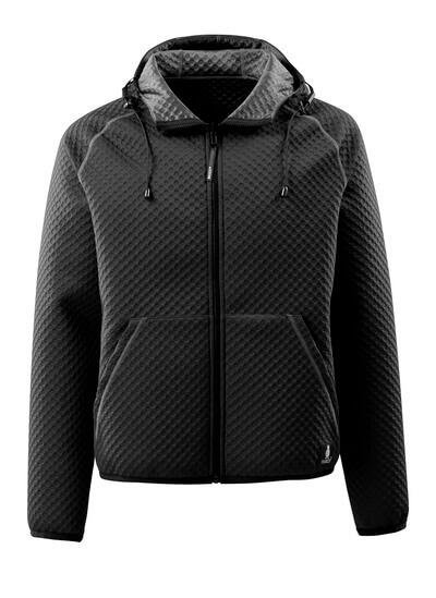 15146-267-09 Sweat capuche zippé - Noir