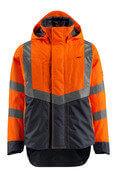 15501-231-14010 Hard Shell Jacke - hi-vis Orange/Schwarzblau