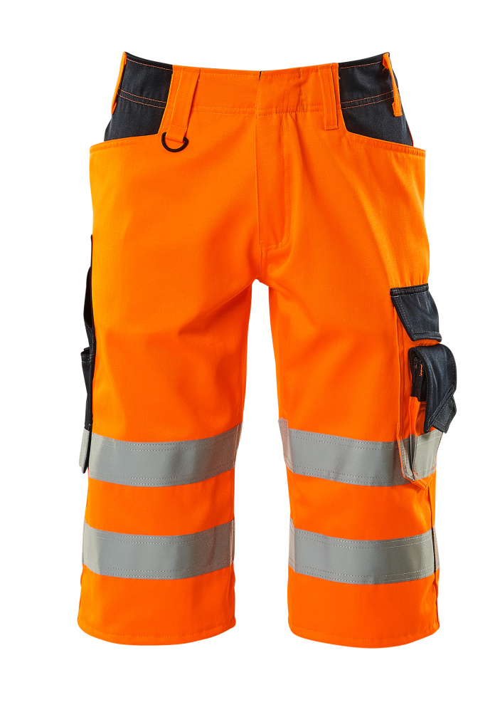 15549-860-14010 Short long - Hi-vis orange/Marine foncé