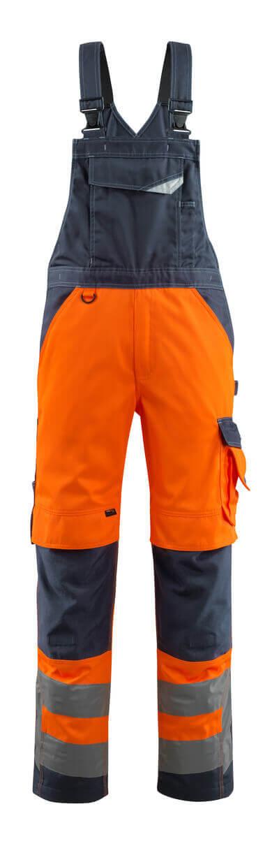 15569-860-14010 Arbeitslatzhose - hi-vis Orange/Schwarzblau