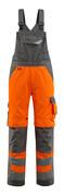 15569-860-1418 Salopette avec poches genouillères - Hi-vis orange/Anthracite foncé