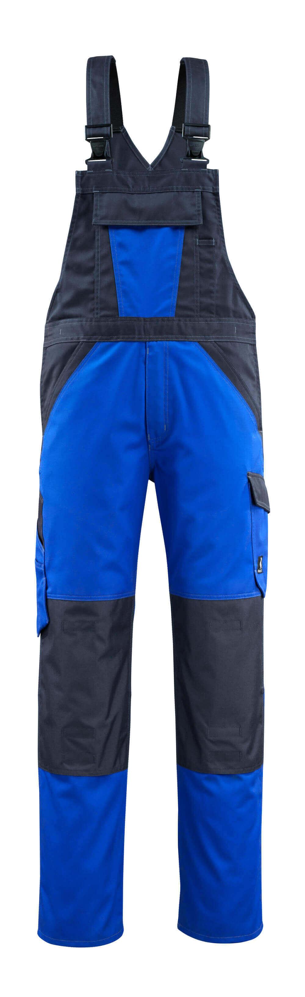 15769-330-11010 Salopette avec poches genouillères - Bleu roi/Marine foncé