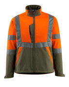 15902-253-1433 Soft Shell Jacke - hi-vis Orange/Moosgrün
