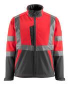 15902-253-22218 Soft Shell Jacke - hi-vis Rot/Dunkelanthrazit