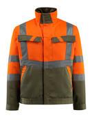 15909-948-1433 Jacke - hi-vis Orange/Moosgrün
