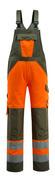 15969-948-1433 Salopette avec poches genouillères - Hi-vis orange/vert mousse