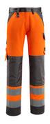 15979-948-1418 Pantalon avec poches genouillères - Hi-vis orange/Anthracite foncé