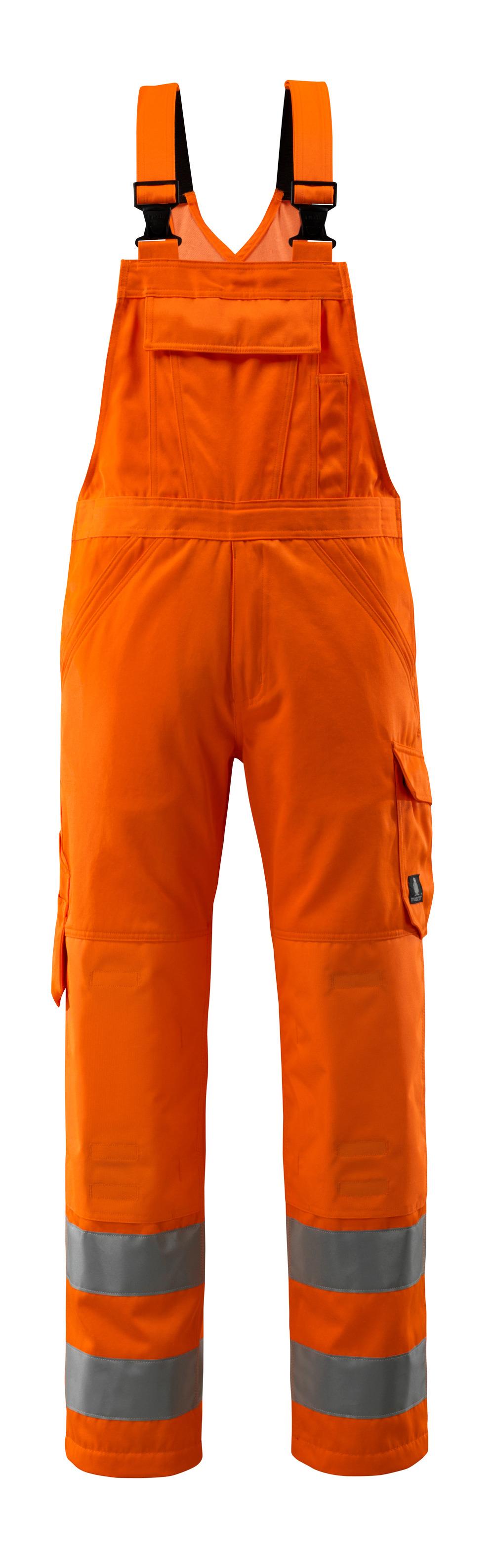 16869-860-14 Salopette avec poches genouillères - Hi-vis orange