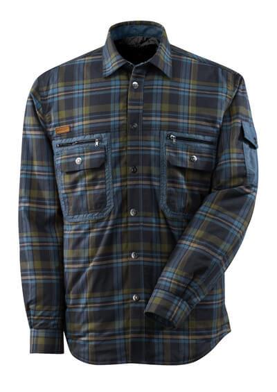 17004-991-01085 Hemd mit Futter - Schwarzblau/Staubblau