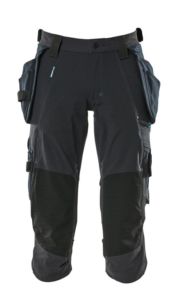 17049-311-010 Pantacourt avec poches genouillères et poches flottantes - Marine foncé