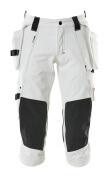 17049-311-06 Pantacourt avec poches genouillères et poches flottantes - Blanc