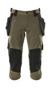 17049-311-33 Pantacourt avec poches genouillères et poches flottantes - vert foncé