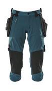 17049-311-44 Pantacourt avec poches genouillères et poches flottantes - Bleu pétrole