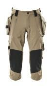 17049-311-55 Pantacourt avec poches genouillères et poches flottantes - Sable clair