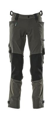 17079-311-09 Pantalon avec poches genouillères - Noir