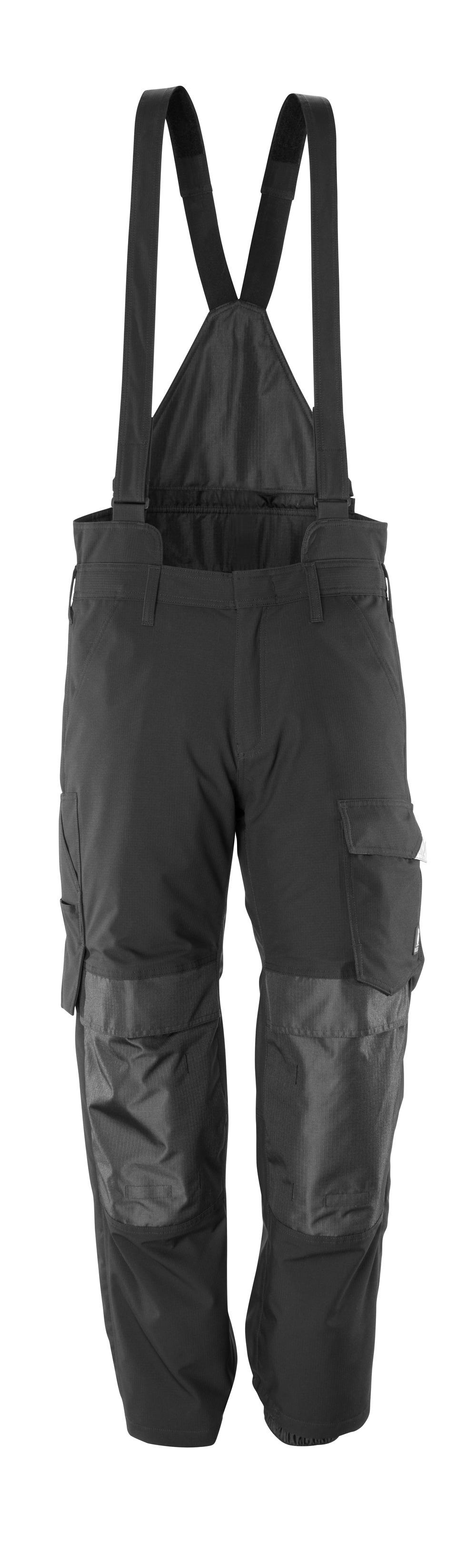 17090-222-09 Surpantalon avec poches genouillères - Noir