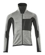 17103-316-0809 Pull polaire zippé - Différents tons de gris/Noir/Rouge*