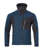 17105-309-4409 Veste tricot zippé - Bleu pétrole