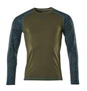 17281-944-33 T-shirt, manches longues - vert foncé