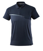 17283-945-010 Polo-Shirt mit Brusttasche - Schwarzblau