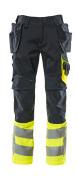 17531-860-01017 Pantalon avec poches flottantes - Marine foncé/Hi-vis jaune