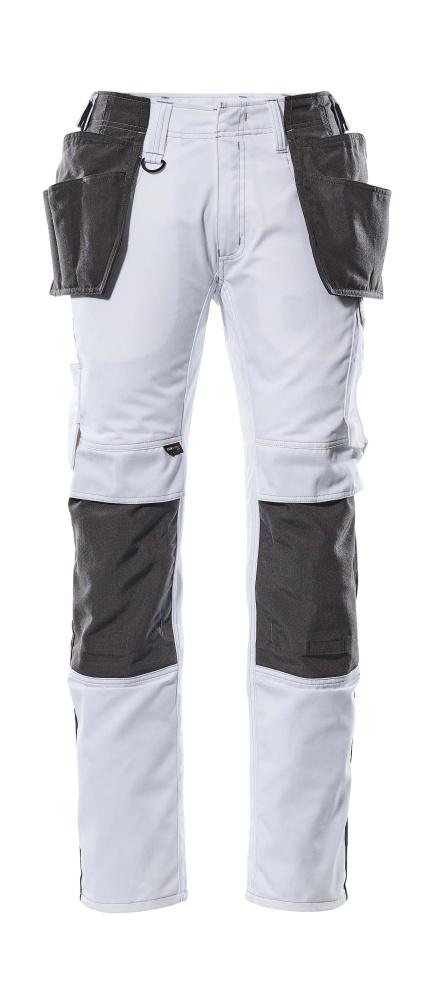 17631-442-0618 Handwerkerhose - Weiß/Dunkelanthrazit